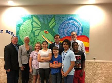 Secretary Simone Marstiller visiting the Abraham Boys and Girls Club of Lacoochee