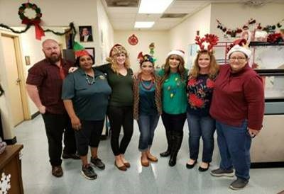 pinellas staff at holiday gathering