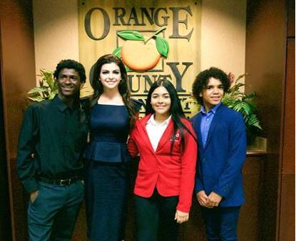 First Lady Desantis with youth