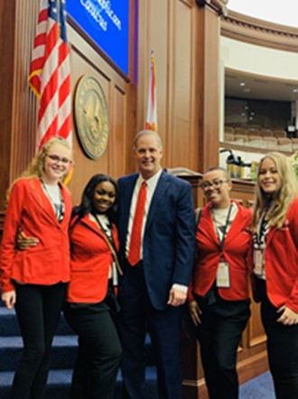PACE Girls Attend Ceremony for Senate President Designate Wilton Simpson