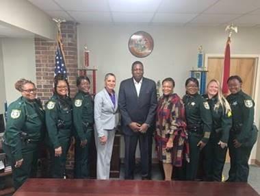 secretary at gadsden sheriff visit