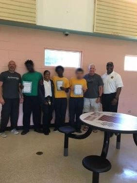 "For the last day of school, Pinellas RJDC celebrated the ""Pinellas Proud"" way by congratulating three young men on their academic excellence."