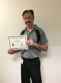 IT Employee of the Month Eric Robinson