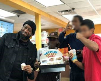 Broward Youth Treatment Center youth at Dunkin Donuts