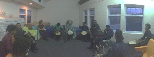 group drum circle