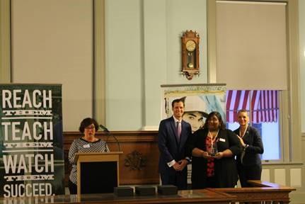 Leslie Lynch, FJJA President; Christian Minor, FJJA Executive Director; Ashley Gilbert, PACE Center for Girls, Simone Marstiller, DJJ Secretary