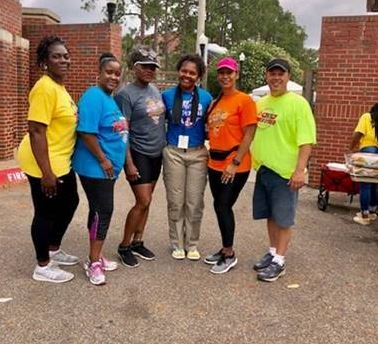 DJJ staff assisting at the Amateur Athletic Union Regional Youth Track and Field Championship in Tallahassee.
