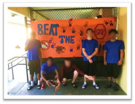 broward youth with anti bullying sign