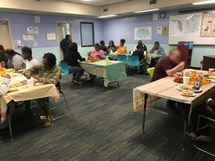 staff at hillsborough rjdc thanksgiving