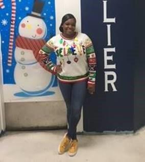 jeaniska norvil in winning sweater