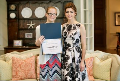 Youth Ambassador Savannah Frietze and First Lady DeSantis