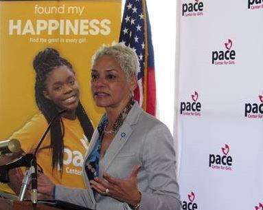Secretary Simone Marstiller speaking at PACE Day