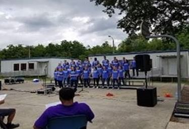 Jacksonville Youth Academy hosted the Brainerd Baptist Church Student Choir out of Chattanooga, Tennessee.