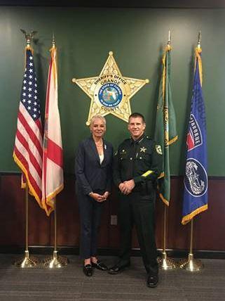 secretary with orand sheriff