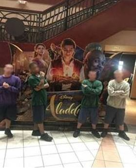 Youth from Orange YA and Orlando Intensive YA attended the new Aladdin movie.